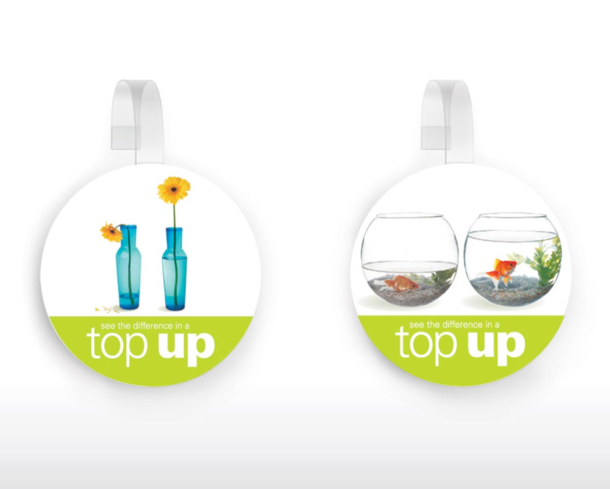 BP Packaging Campaign Round Wobblers