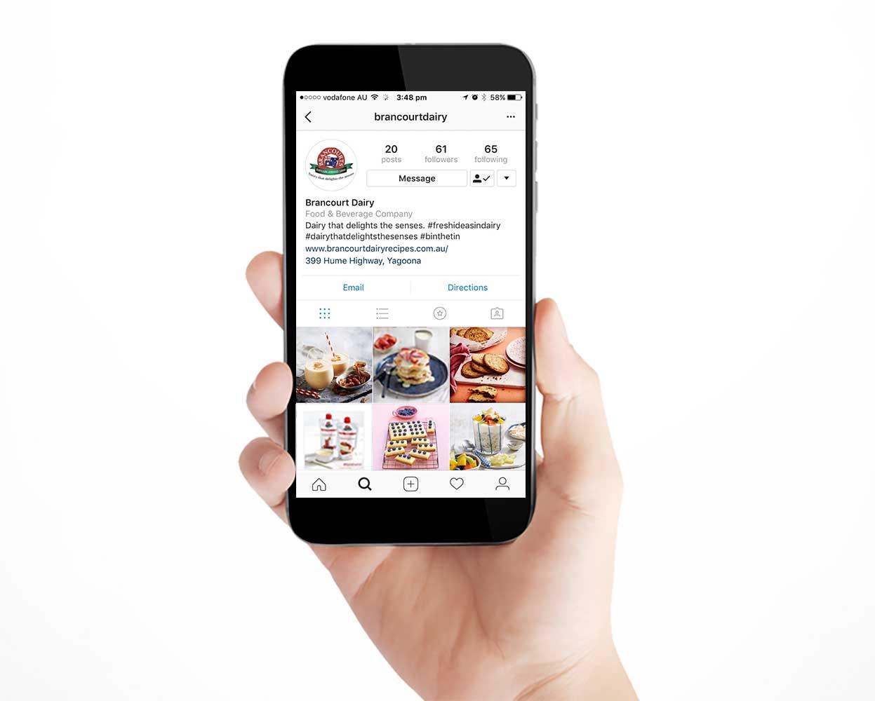 Brancourts marketing campaign branding - instagram