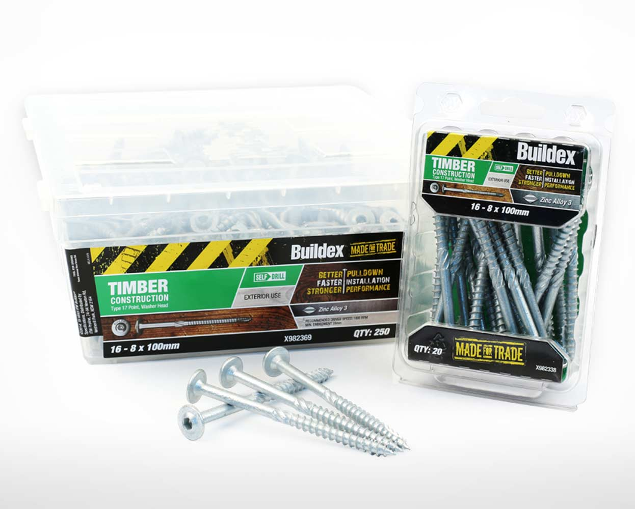Buildex Packaging construction screws