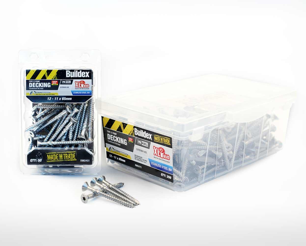 Buildex Packaging decking screws