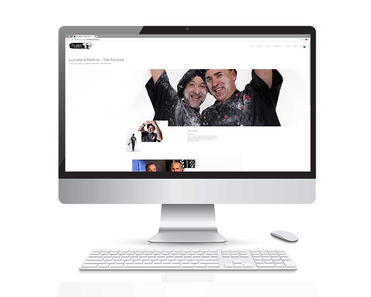 The Italianos branding - website