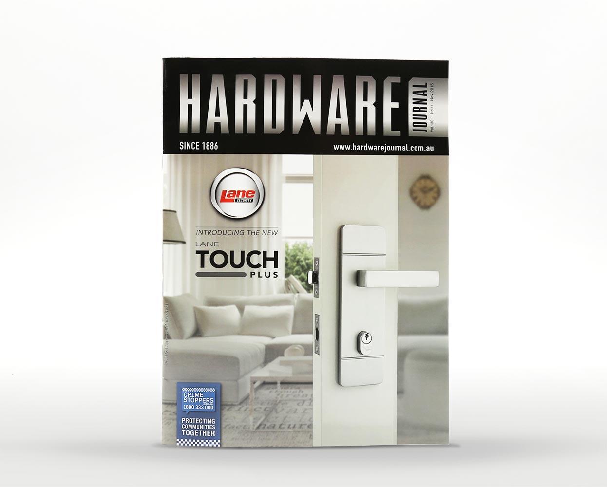 Lane touchplus branding - magazine ad