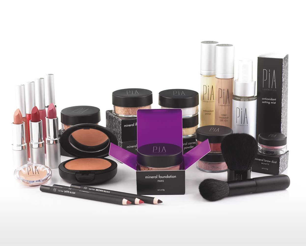 Pia Cosmetics Packaging Cosmetic Range