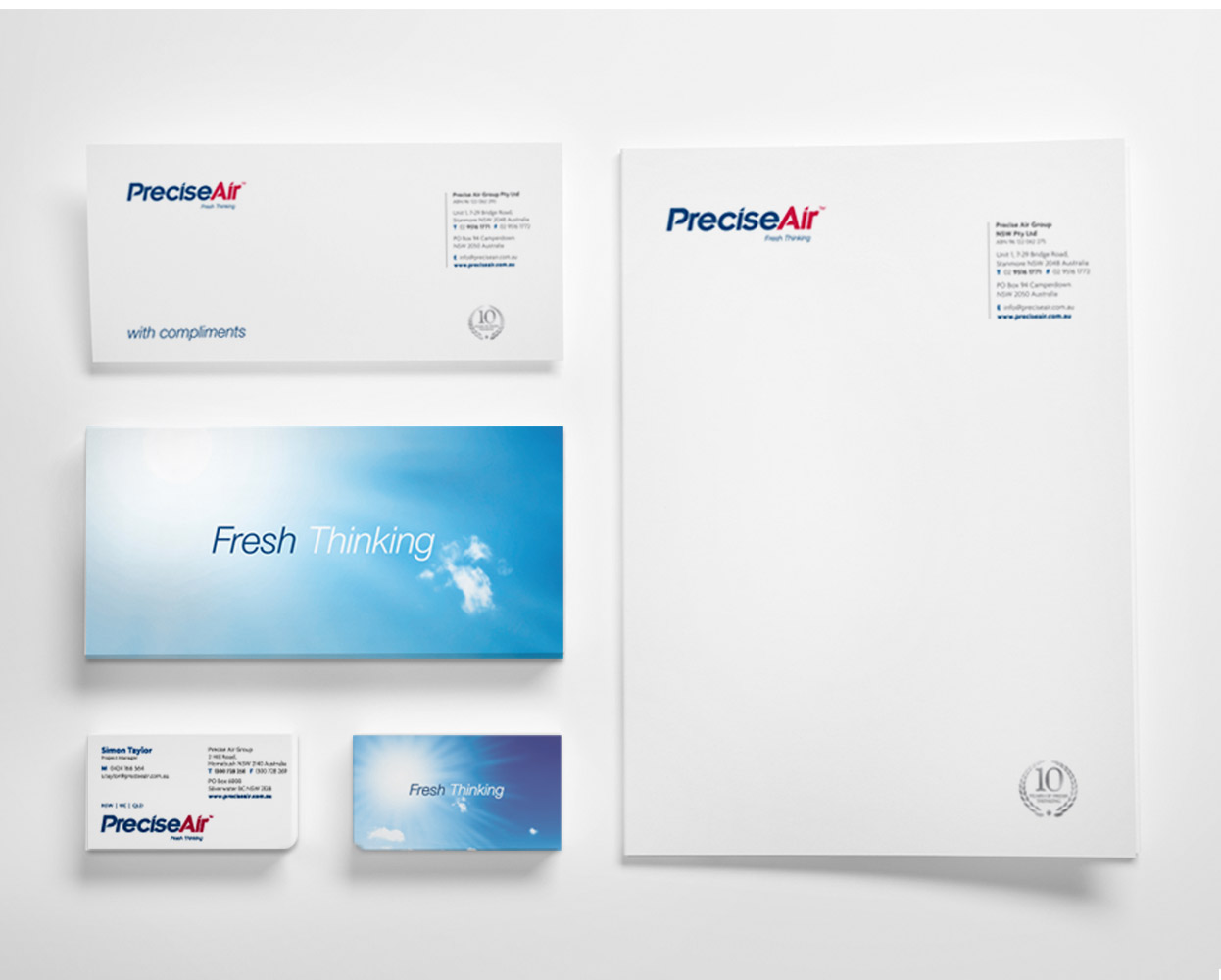Precise Air Barnding Stationery