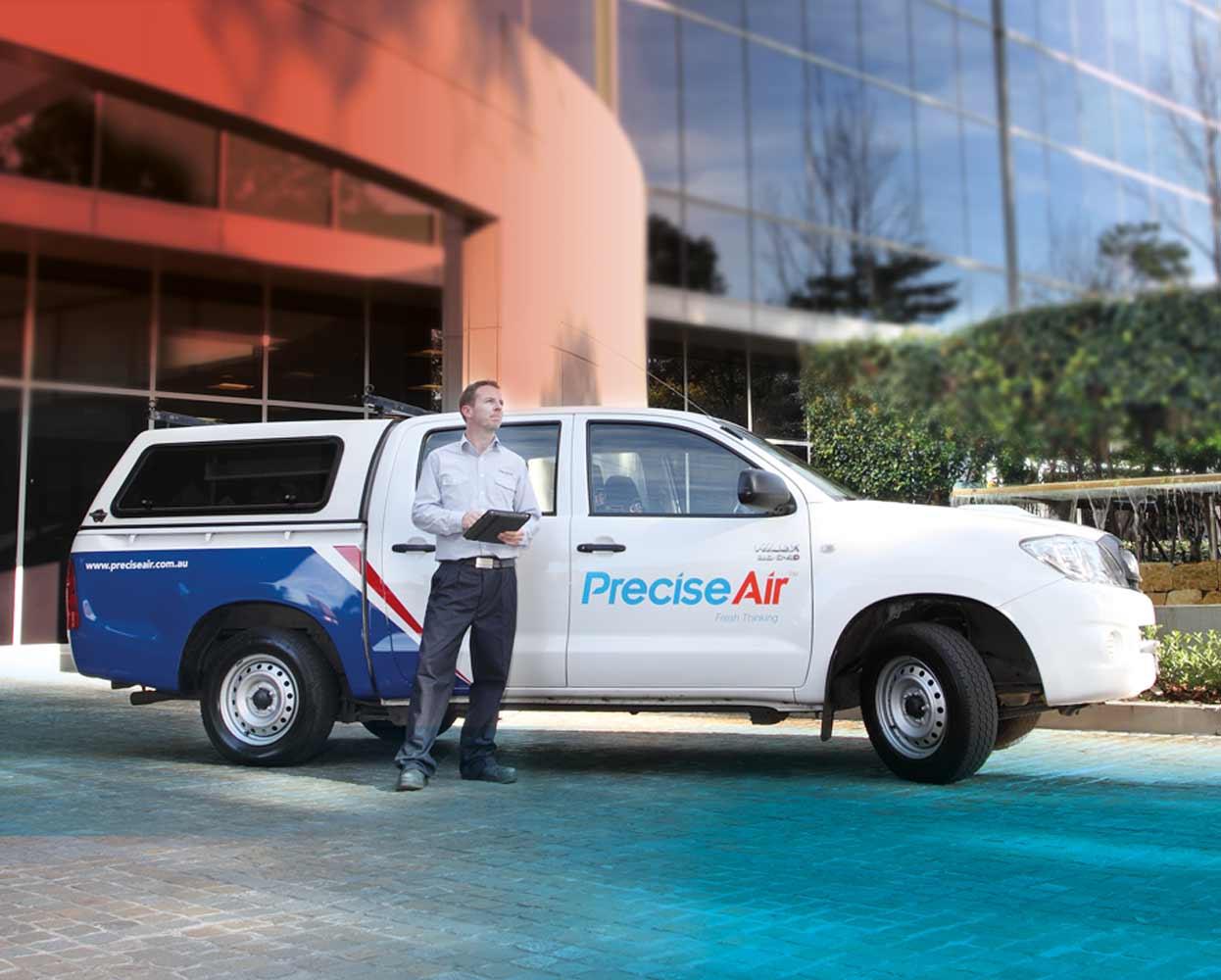 Precise Air Branding Vehicle signage ute