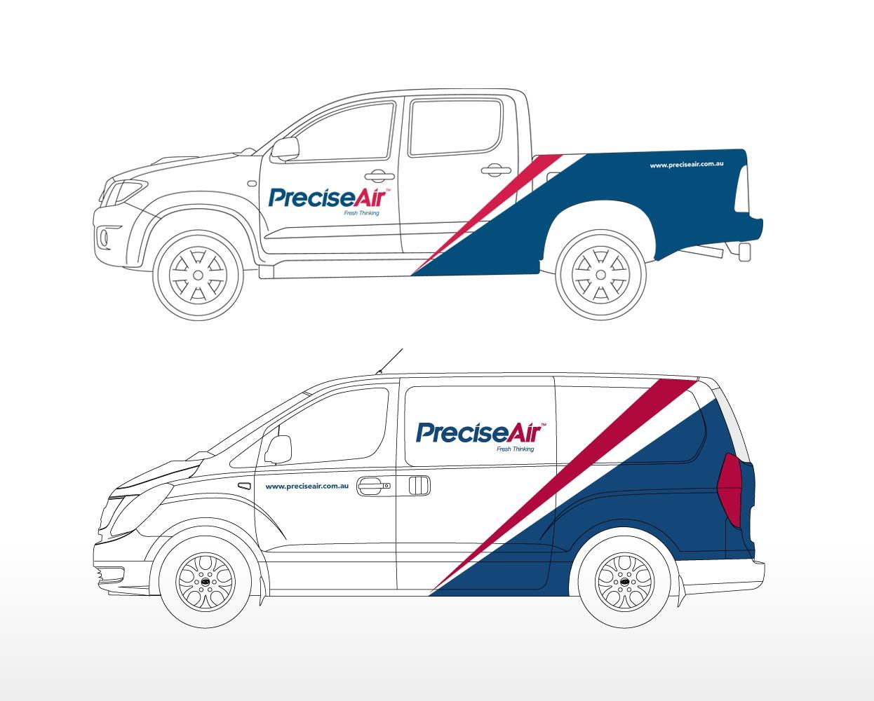 Precise Air Vehicle signage Ute Van
