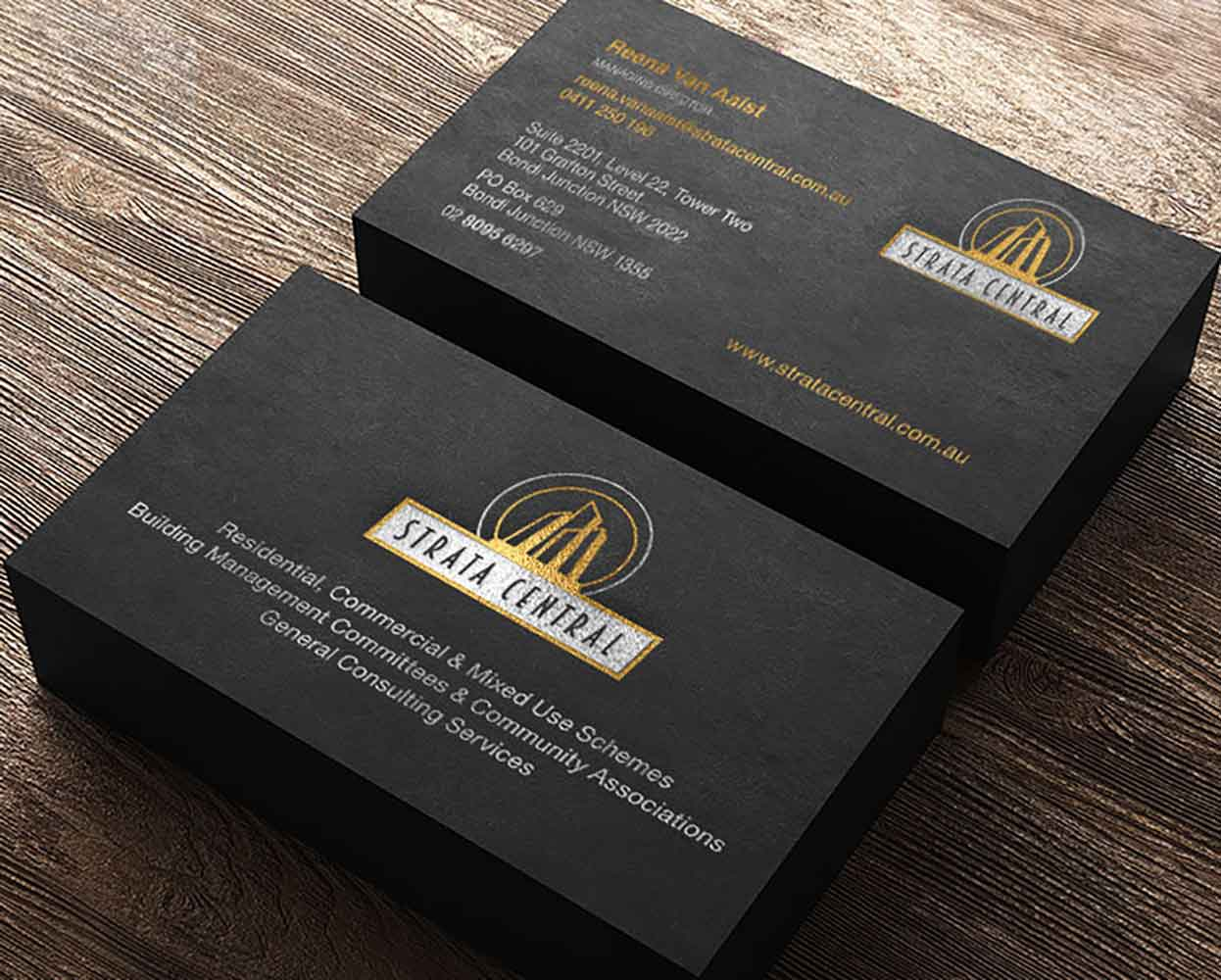 Strata Central branding - business card