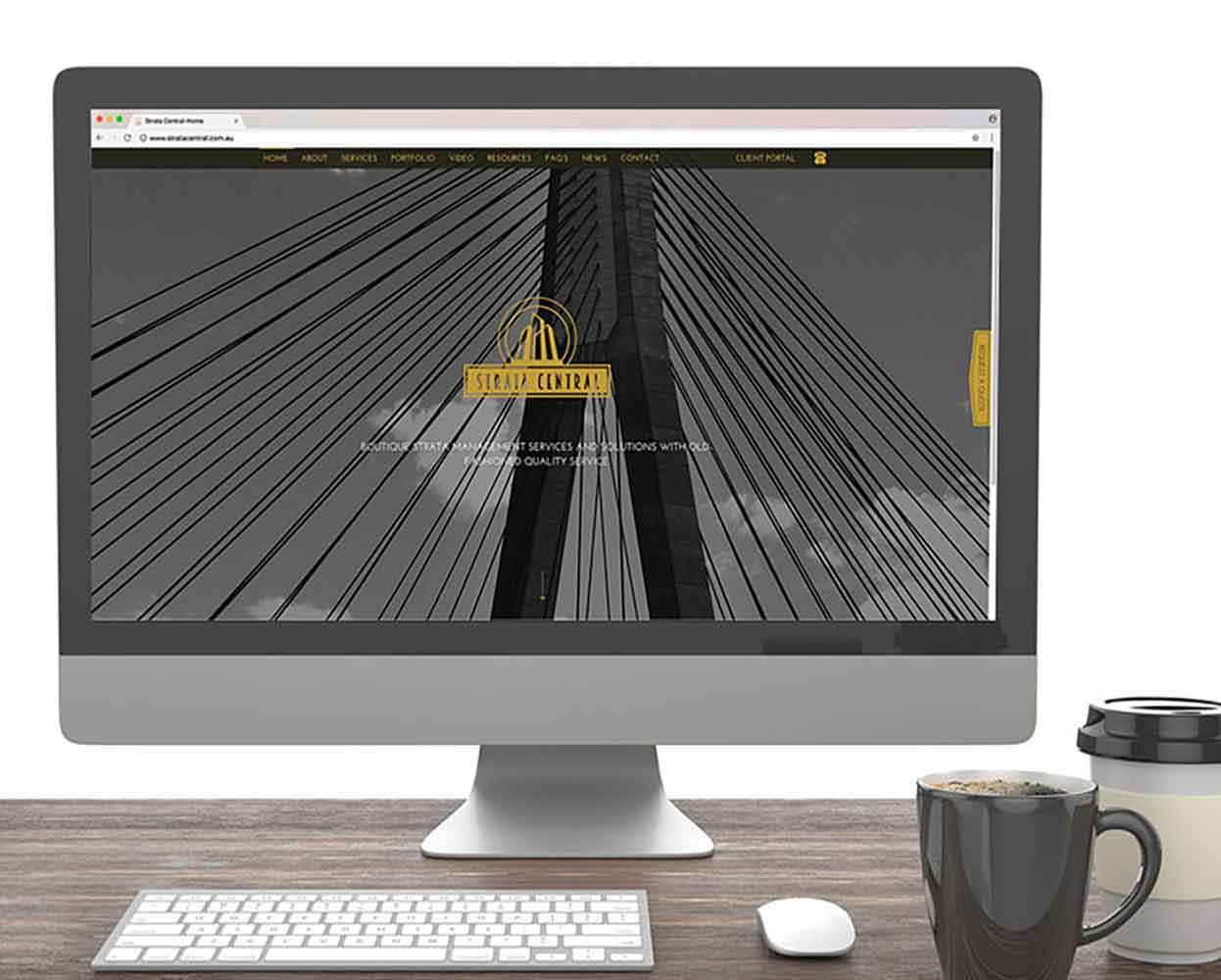 Strata Central branding - website