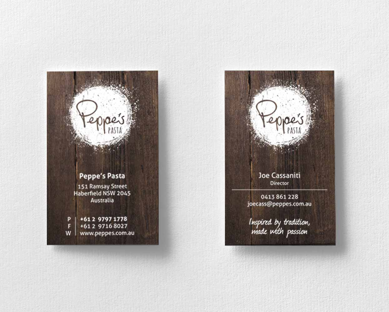 Peppes_Pasta_Branding_Business_Cards