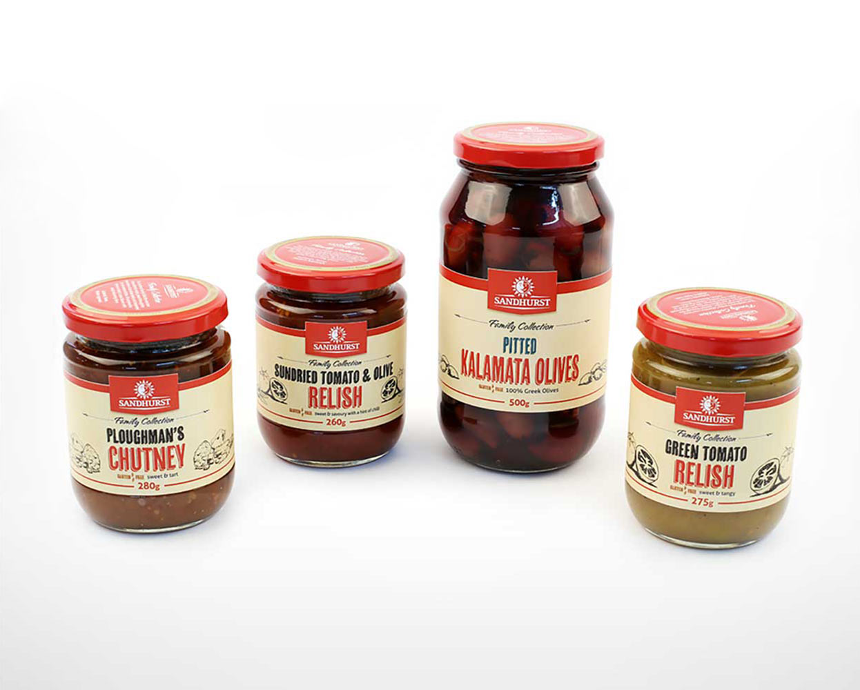 Sandhurst Packaging Round Jars