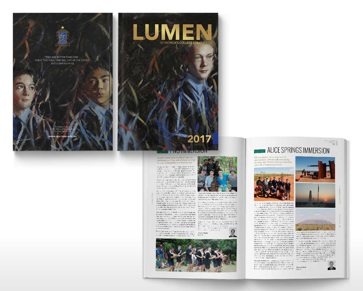 St Patricks College Lumen Branding Year Book 2017 Spread