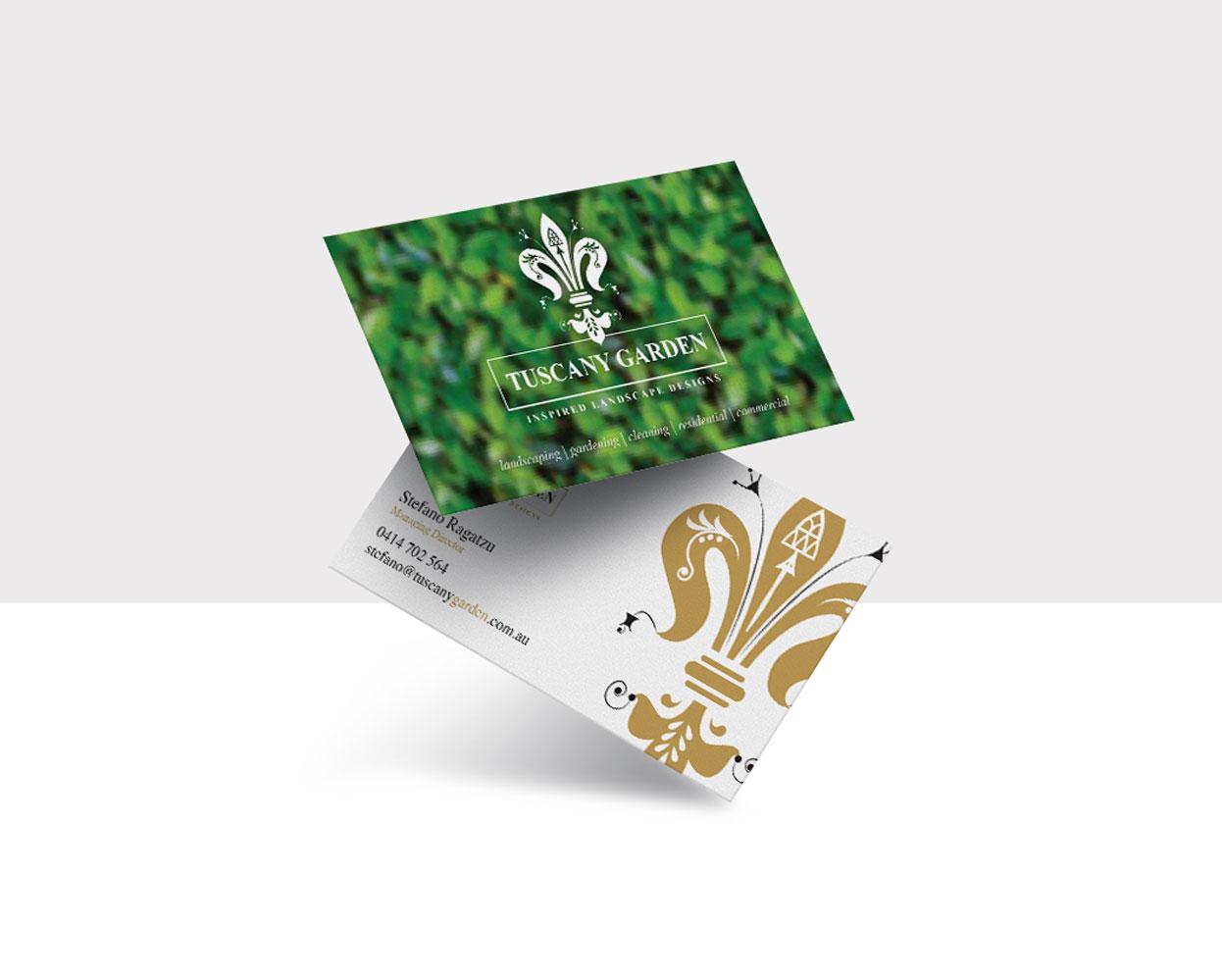 Tuscany Garden Branding Mela Creative Business Cards