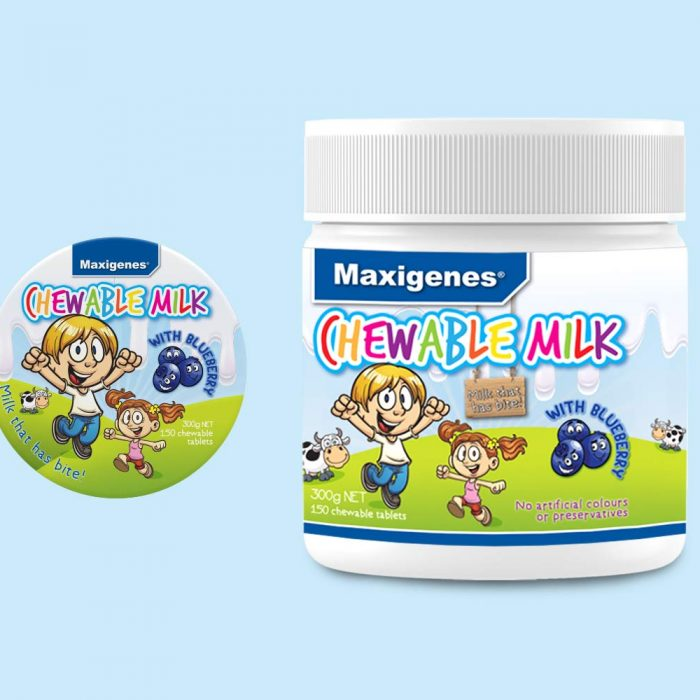 Maxigenes Chewable Milk with Blueberry
