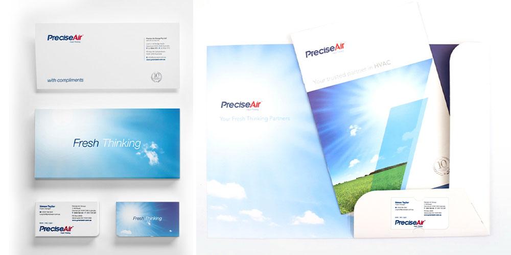 Mela Creative project - Precise Air branding