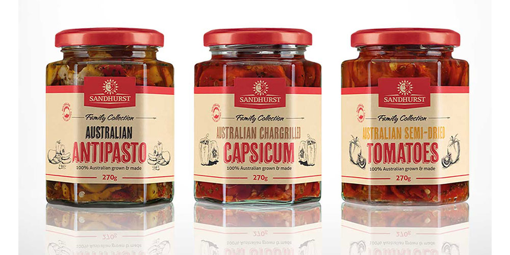 Mela Creative project - Sandhurst Fine Foods packaging