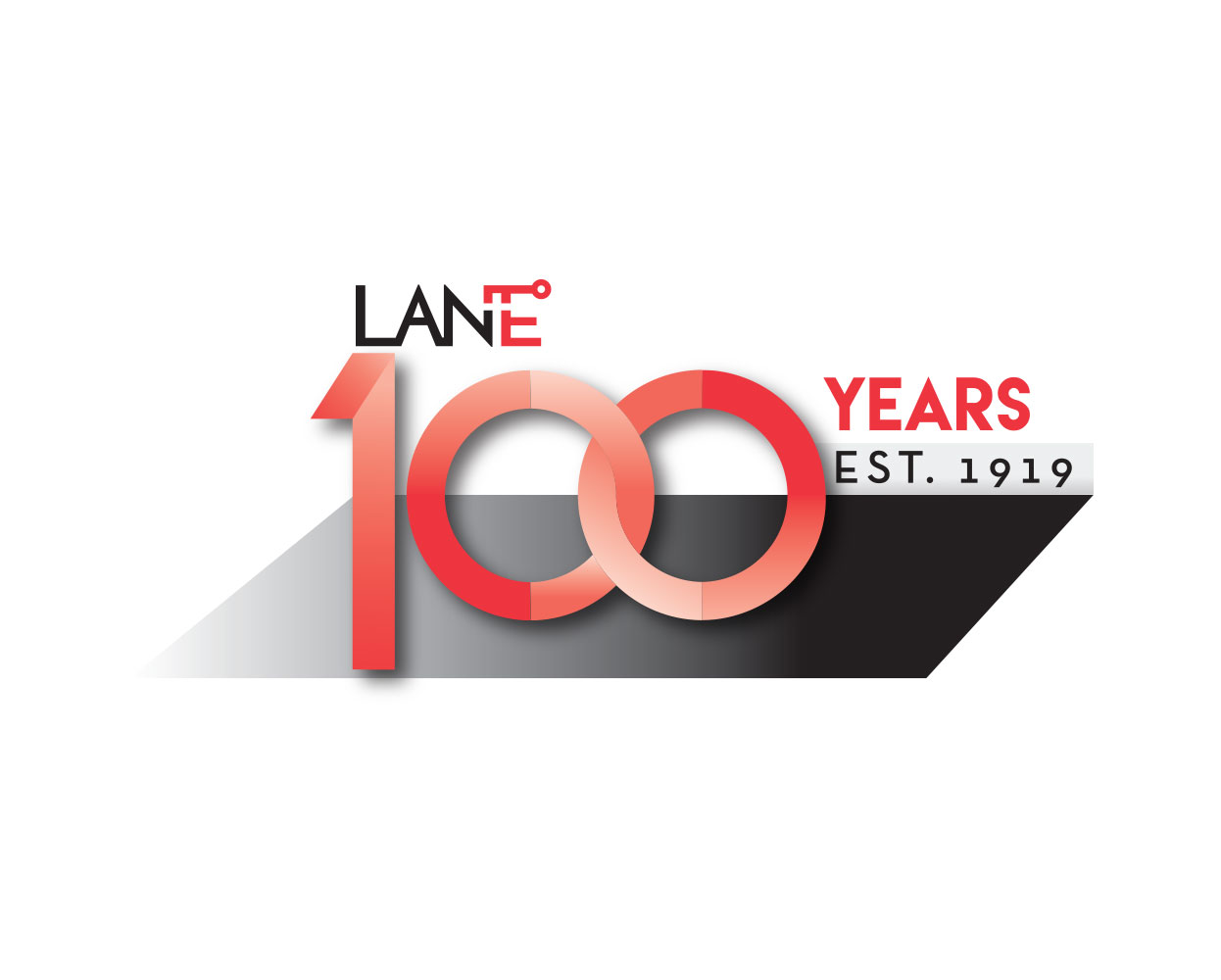 Lane 100 year logo